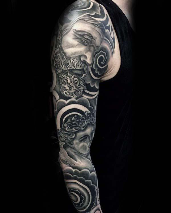 Clouds Nice Guys Full Arm Tattoos