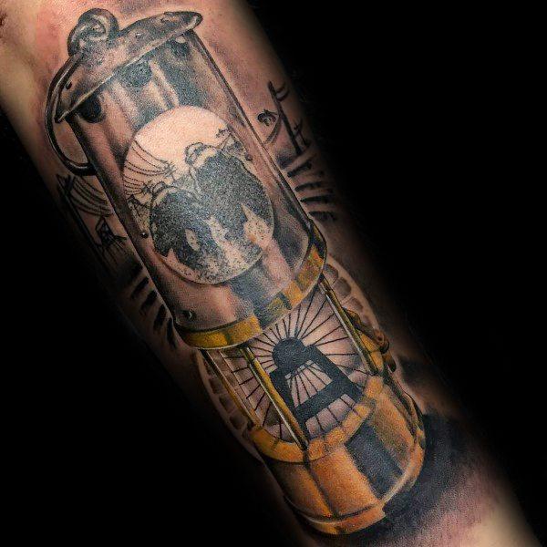 Coal Mining Male Tattoos