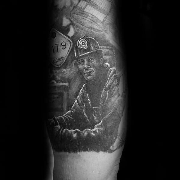 Coal Mining Mens Tattoos