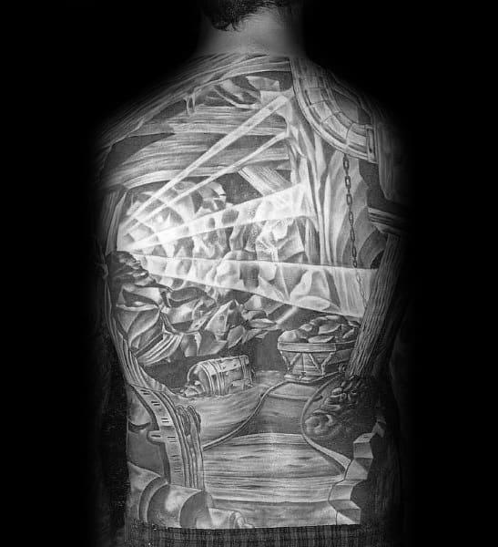 Coal Mining Tattoo Designs For Gentlemen