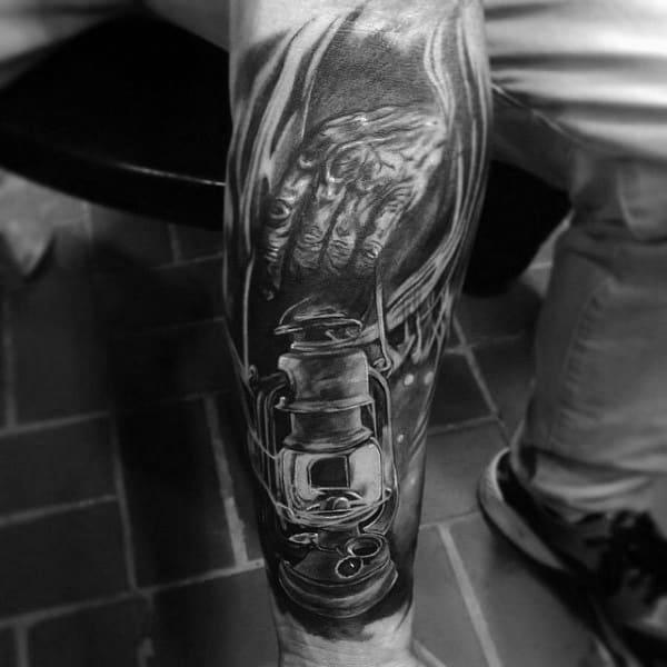 Coal Mining Tattoo Designs For Men
