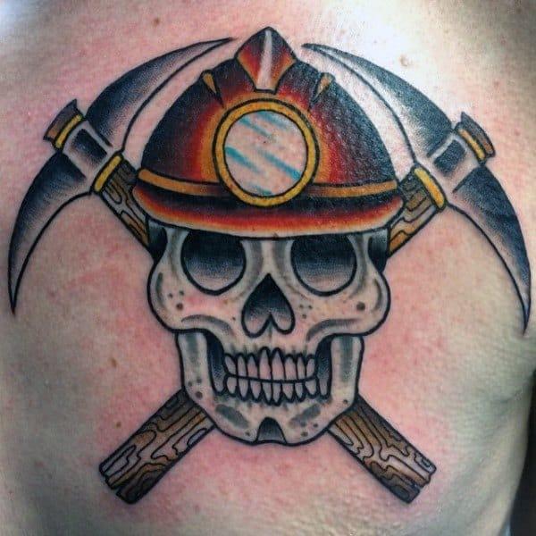 Coal Mining Tattoo Ideas For Men