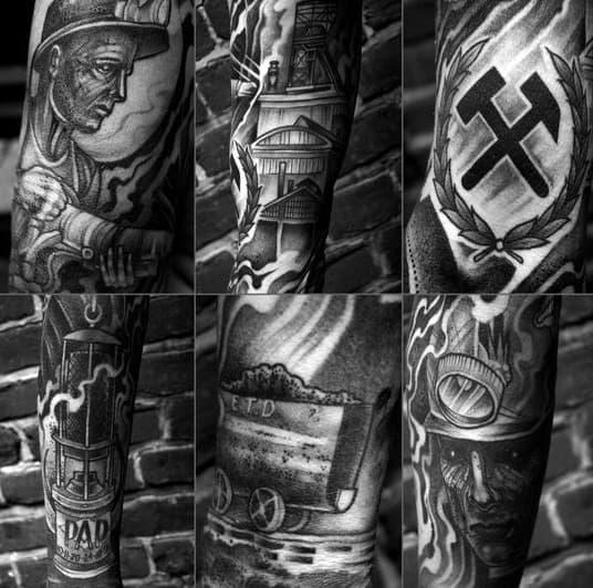 Coal Mining Tattoos For Gentlemen