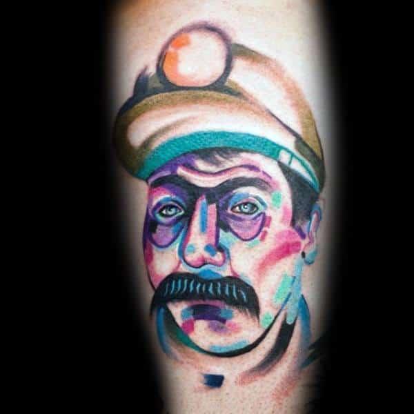 Coal Mining Tattoos For Men