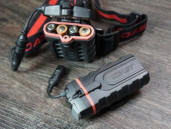 Coast Hl8r Headlamp Battery Options