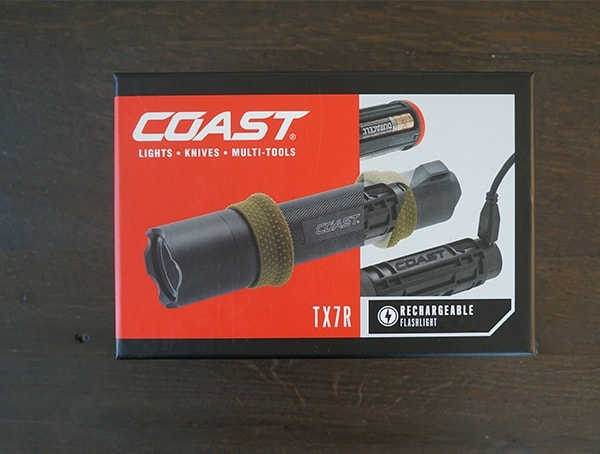 Coast Portland Tx7r Rechargeable Led Flashlight Box Front
