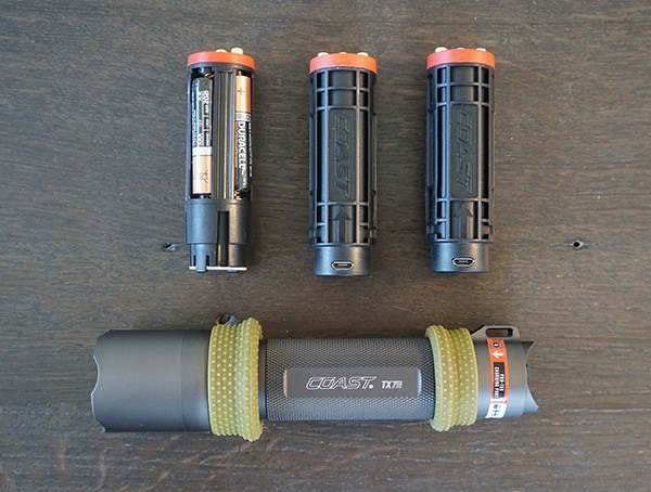 Coast Tx7r Flashlight With Battery Packs