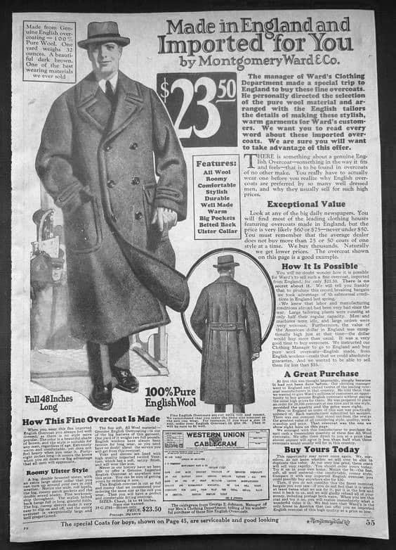 Coat 1920s Mens Fashion Shopping Catalog