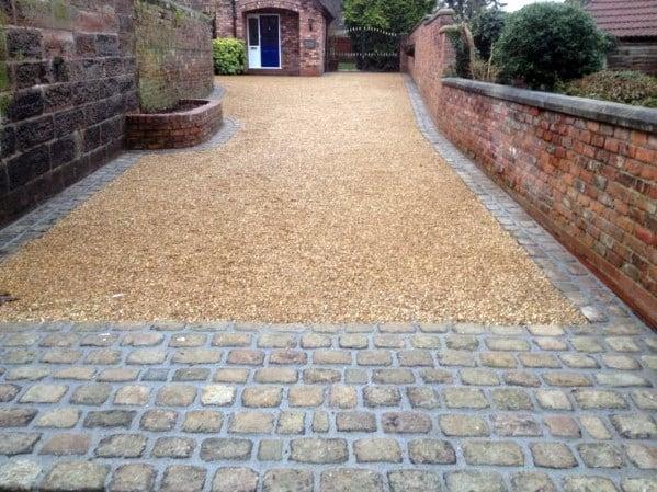 Cobblestone Gravel Driveway Ideas