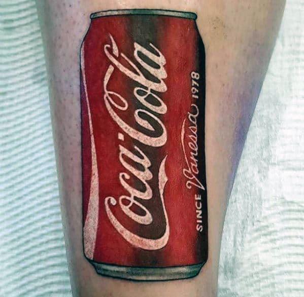 60 Coca Cola Tattoo Ideas For Men Beverage Designs