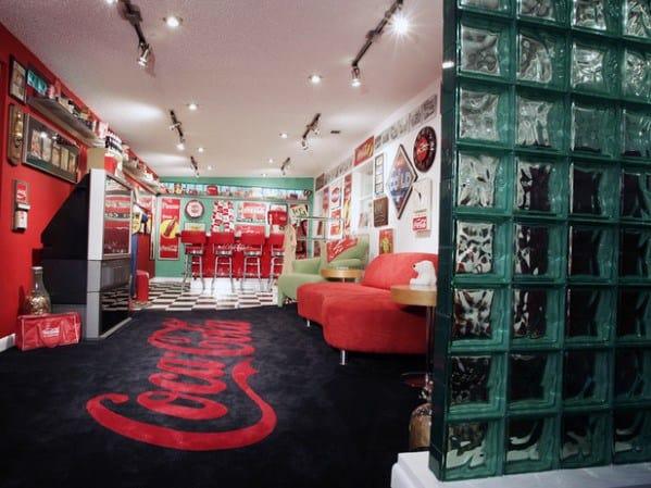 Coca-Cola-Thema Coole Mann-Höhle-Ideen