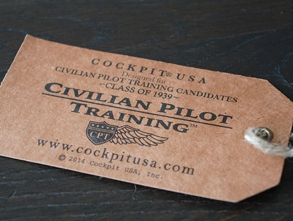 Cockpit Usa Civilian Pilot Training Collection Tag