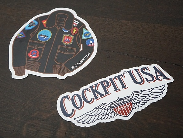 Cockpit Usa Jacket Stickers