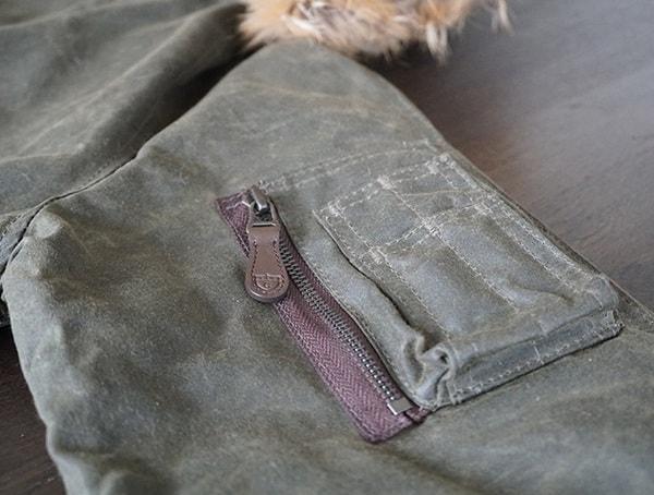 Cockpit Usa Mens Olive Mountain Ranger Parka Left Sleeve Pen Pencil Pocket