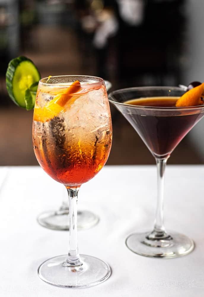 spritz city bistro cocktails drinks