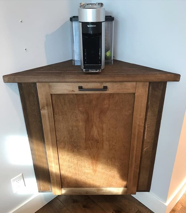 Coffee Bar Awkward Corner Cabinet J.bbuilders