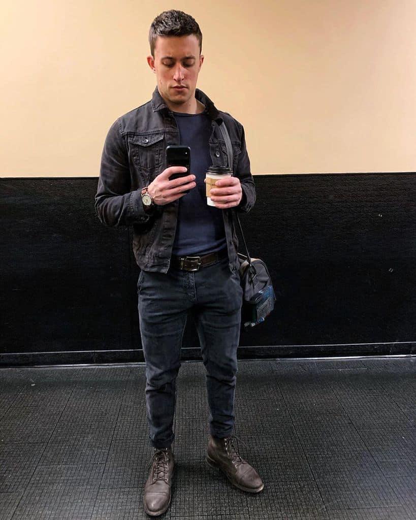 Coffee Denim Mens Style