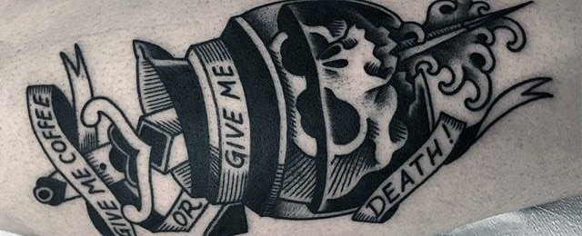 Coffee Tattoo Designs For Men