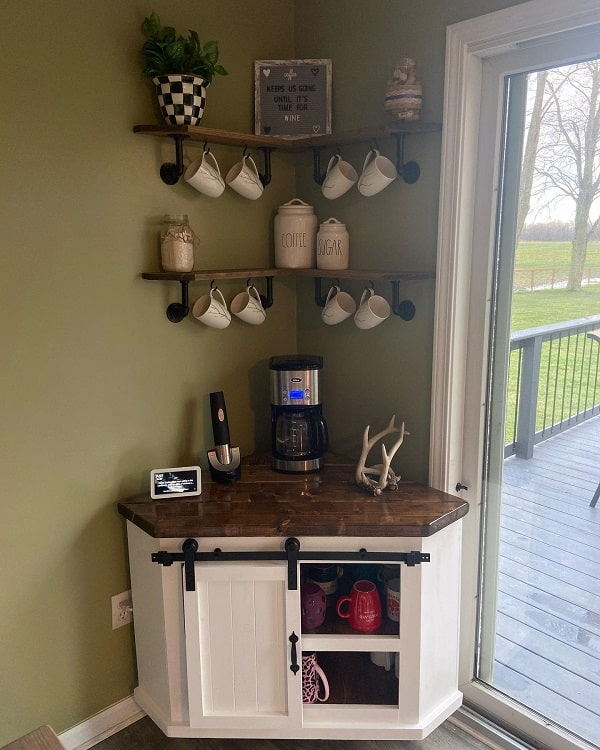 Coffee Wine Bar Awkward Corner Cabinet Cmhwoodworking