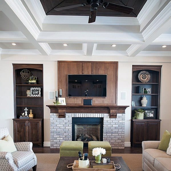 Coffered Ceiling Living Room Designs Crown Molding