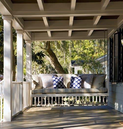 Coffered Porch Ceiling Design Ideas