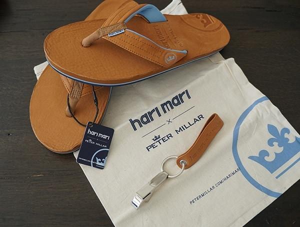 Cognac Mens Leather Sandals Hari Mari Peter Millar Edition