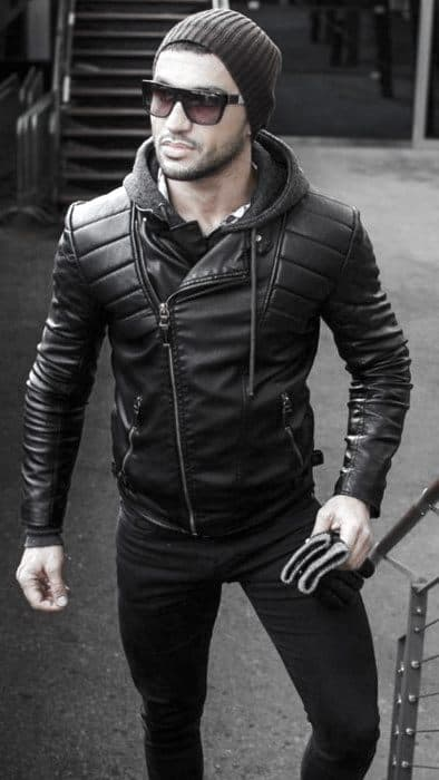 Cold Weather Winter Guys Leather Jacket How To Wear A Leather Jacket Outfits Style Ideas