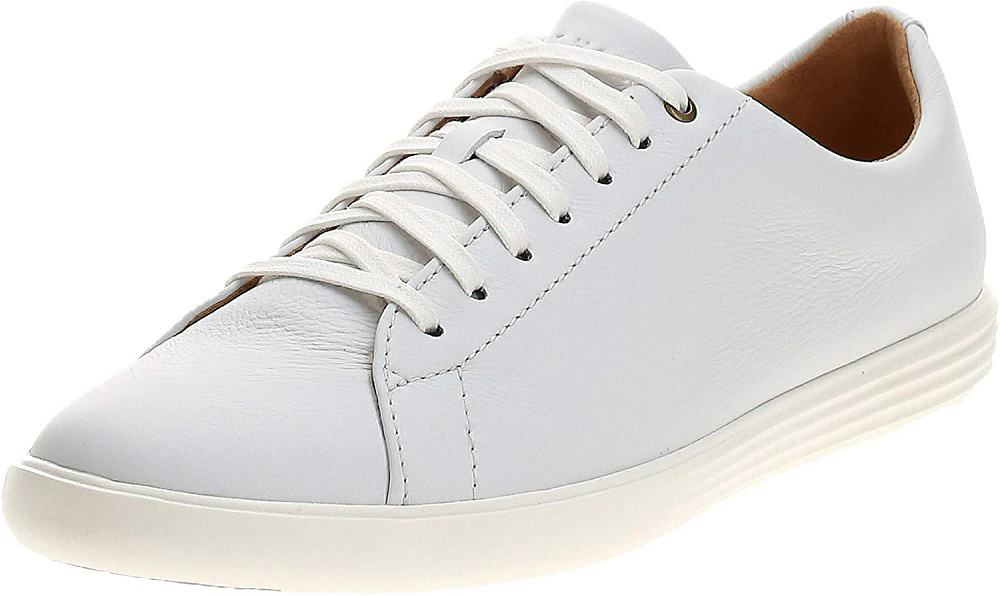 cole haan mens grand crosscourt li runner shoes in white color