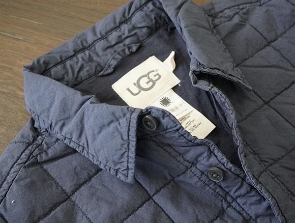 Collar Detail Mens Ugg Trent Quilted Shirt Jackets