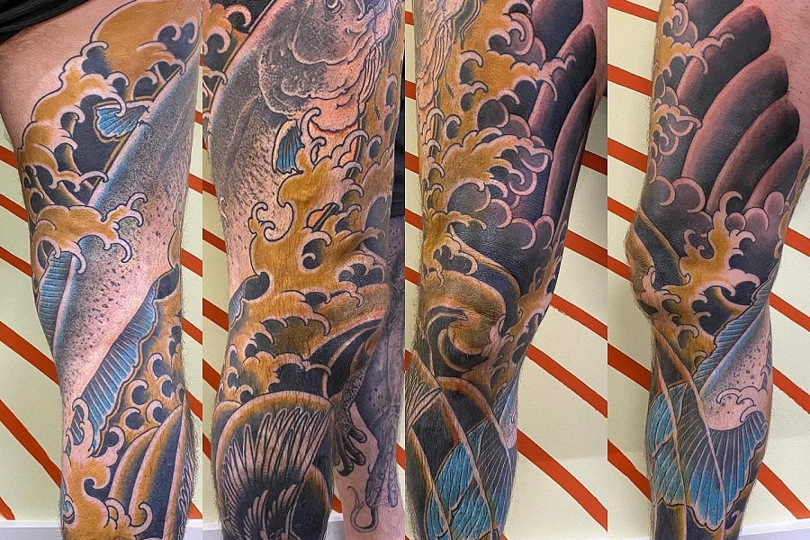 Top 85 Best Leg Sleeve Tattoo Ideas – [2020 Inspiration Guide]