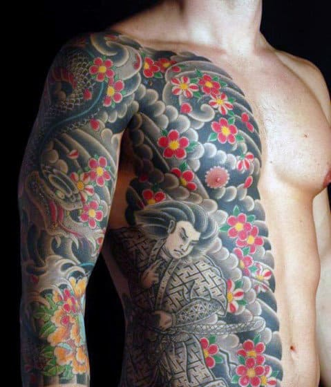 Color Japanese Tattoos For Men