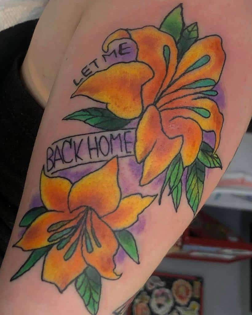 Color Lily Tattoo Ilovebeefstew