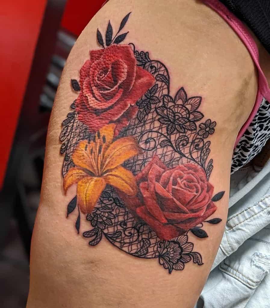 Color Lily Tattoo Jasminekeatstattoo
