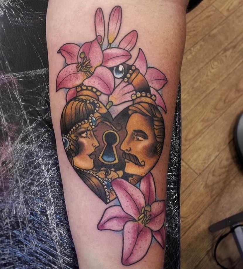 Color Lily Tattoo Katancostello