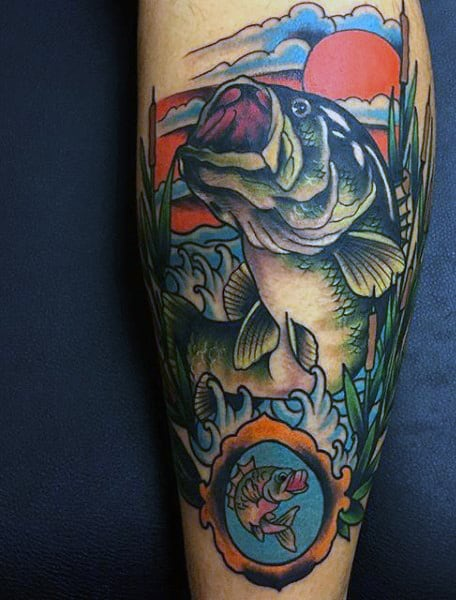 Color Lucky Fish Guy's Tattoo
