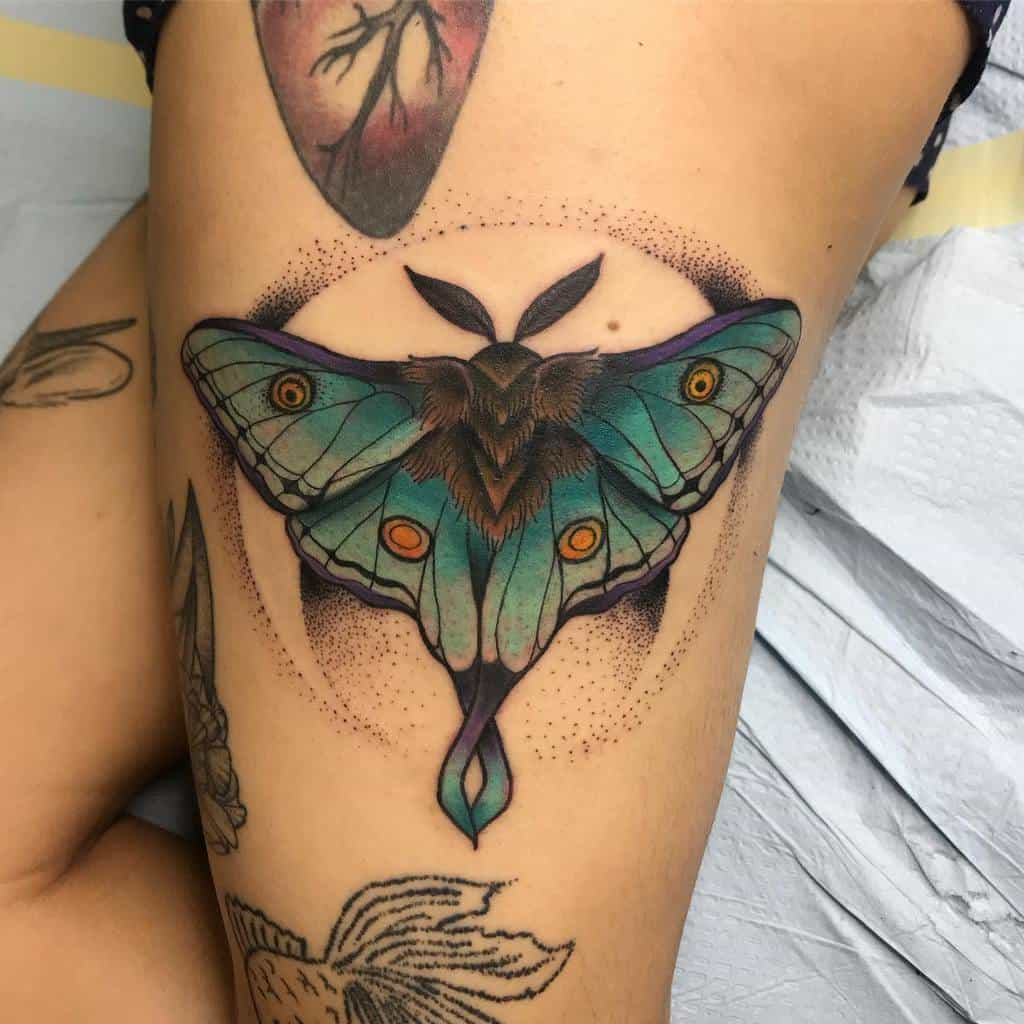Color Luna Moth Jpereztattoos
