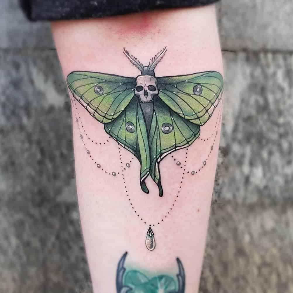Color Luna Moth Katecorvus.tattoo