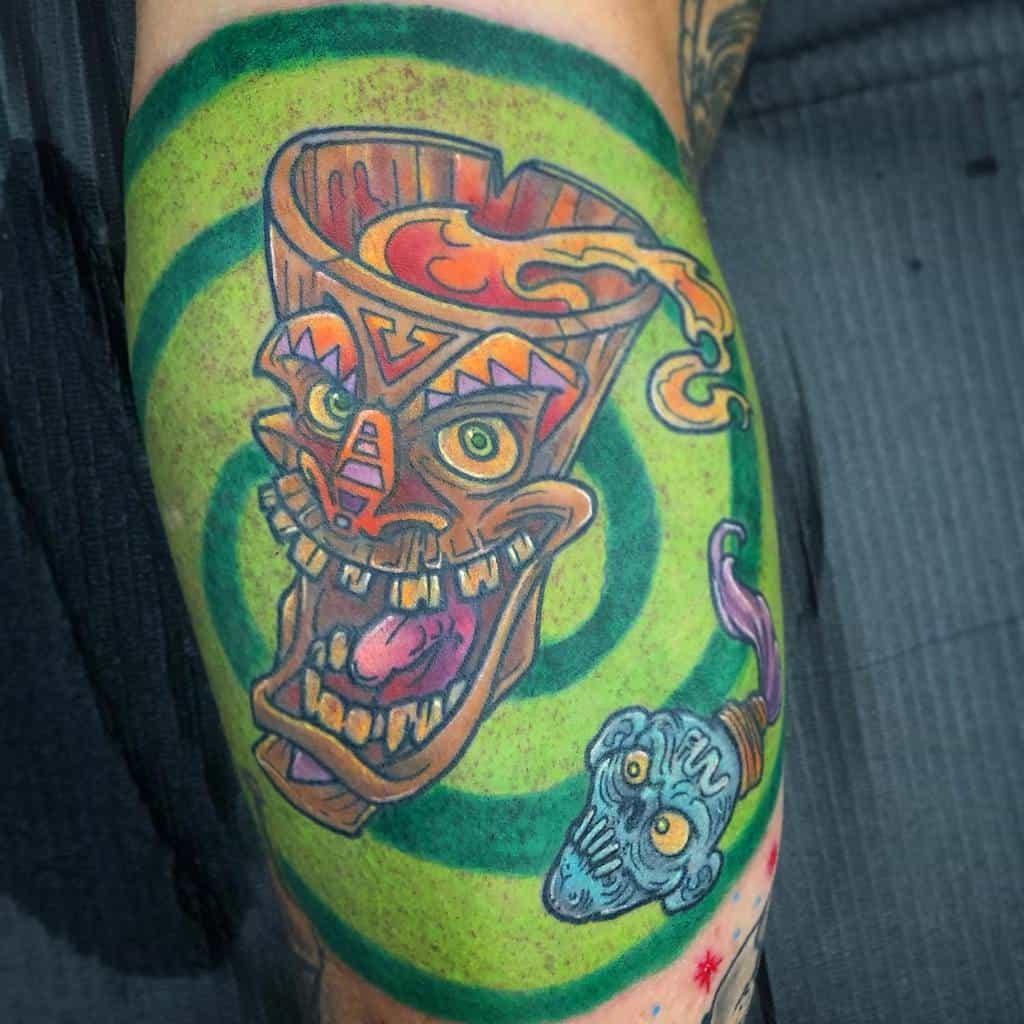 Color Tiki Tattoo Danskyland Tattoo