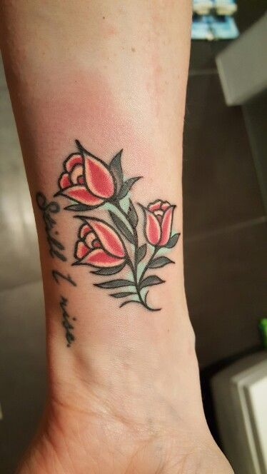 Colored Floral Tattoo