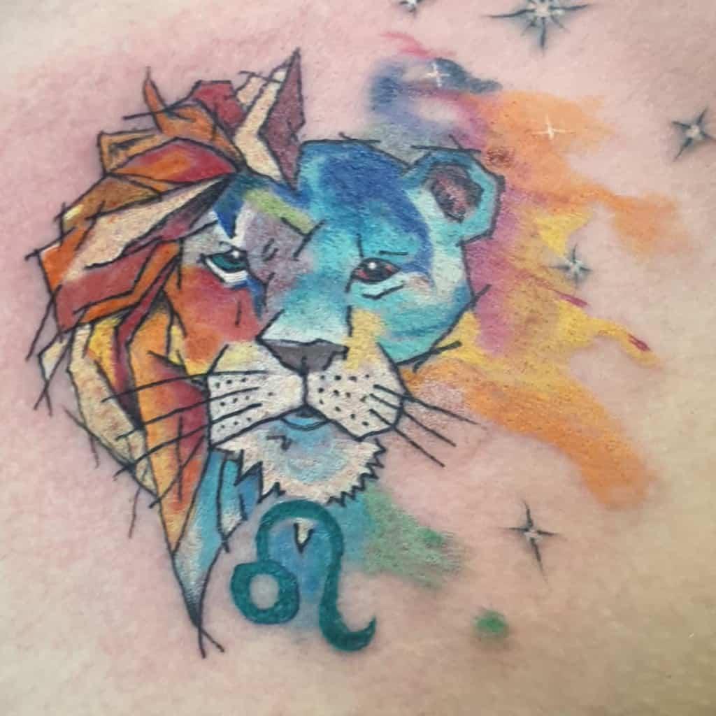 colored-leo-chest-tattoo-ajbslug