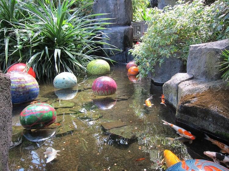 Colored Rocks Backyard Koi Pond