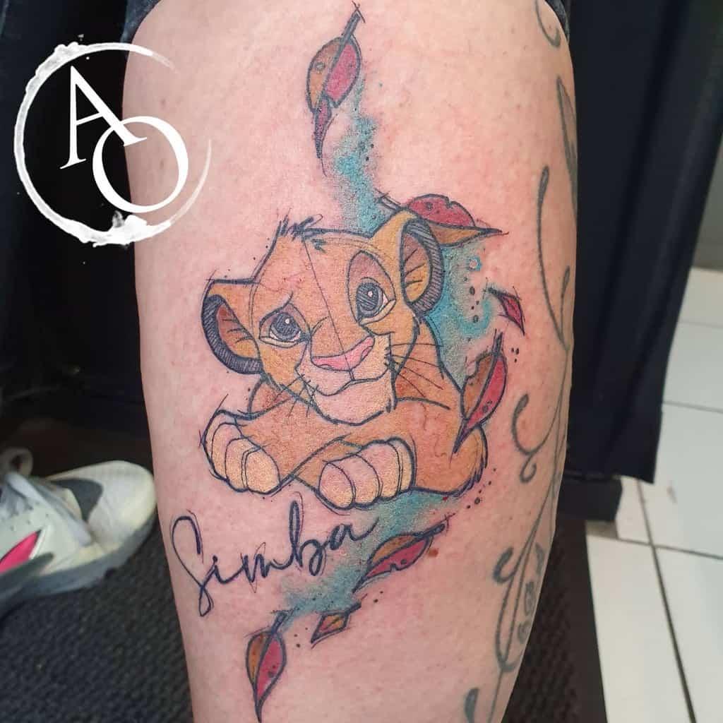 Colored Simba Tattoo Aestheticoutcasttattoo