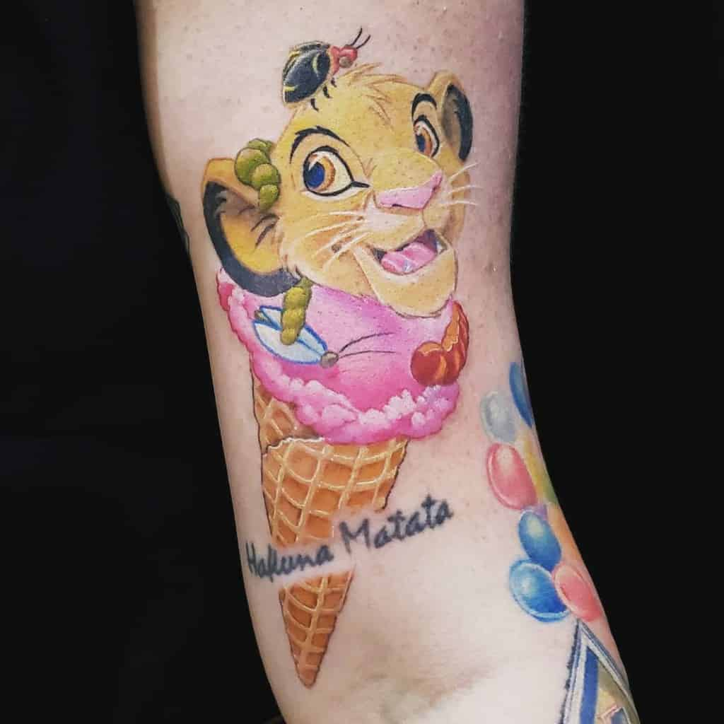 Colored Simba Tattoo Ariannarene08