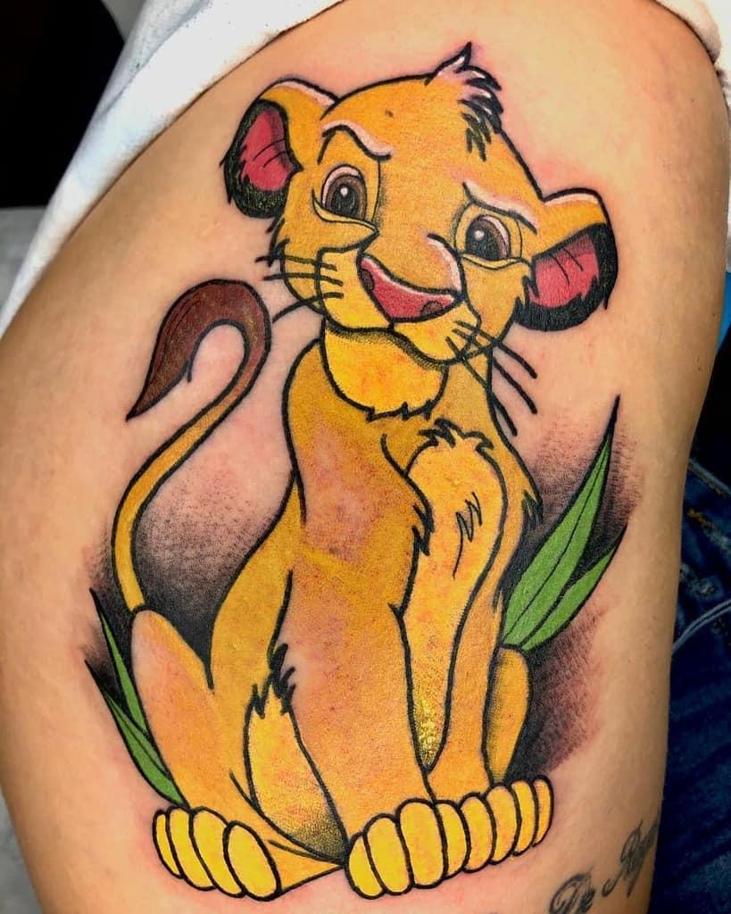 Colored Simba Tattoo Christian.ocaos.tattoo
