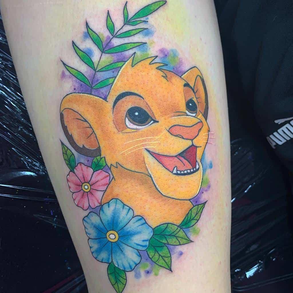 Colored Simba Tattoo Kitty Ink Kitkat