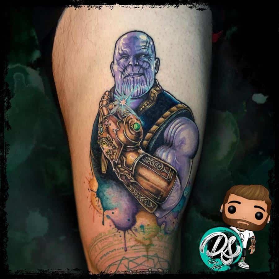 Colored Thanos Tattoo Dannyscotttattooartist