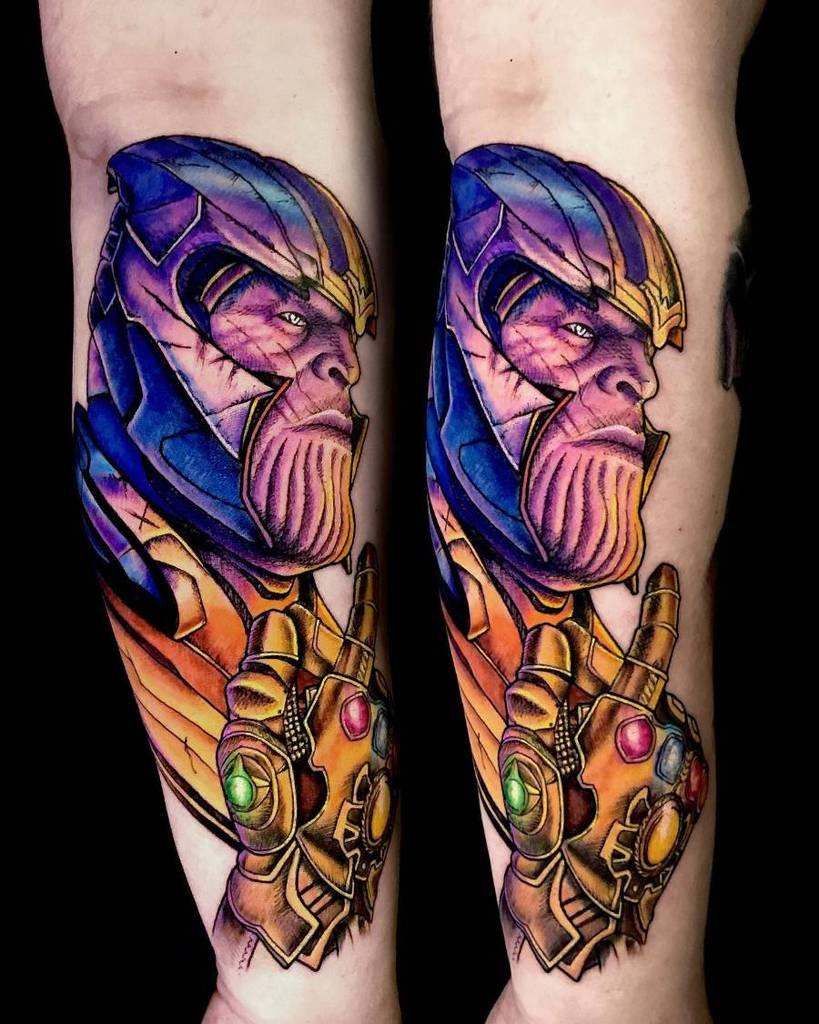Colored Thanos Tattoo Fatniss Ink