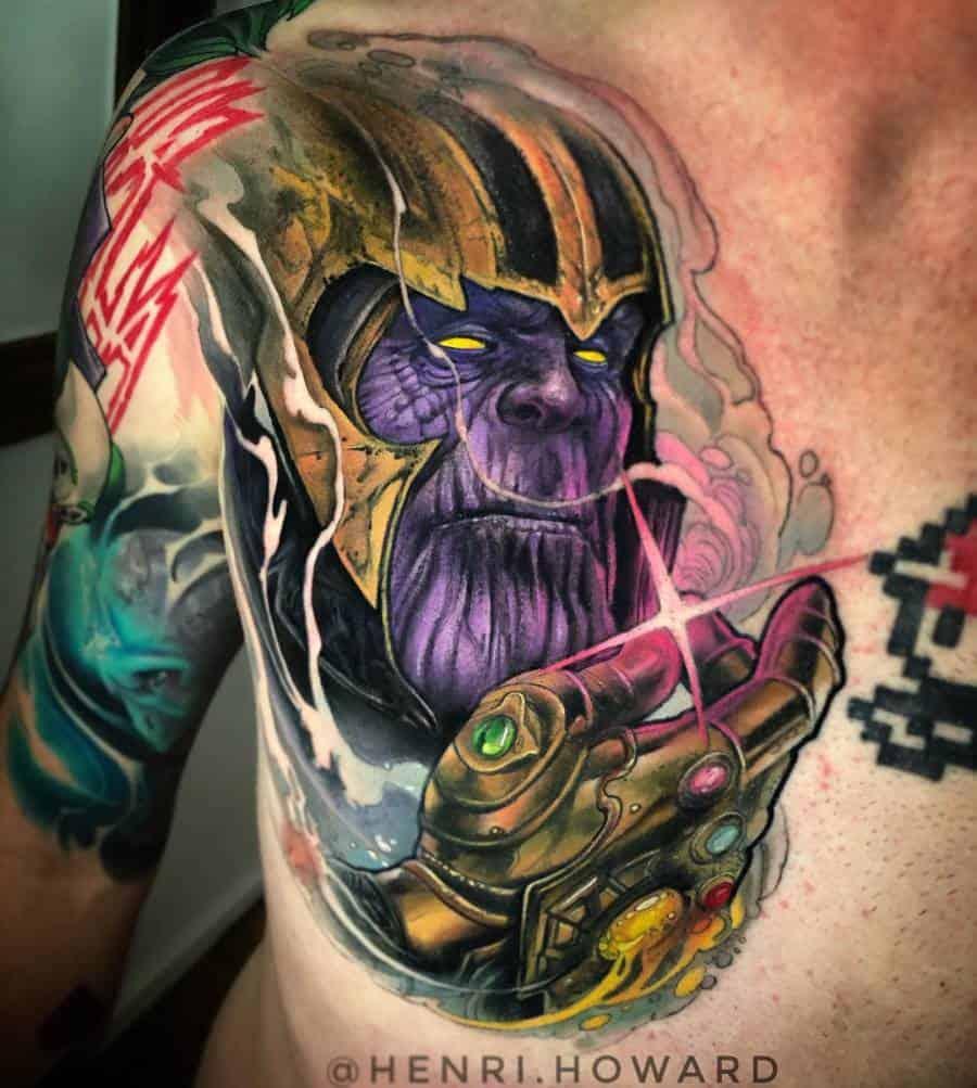 Colored Thanos Tattoo Henri.howard
