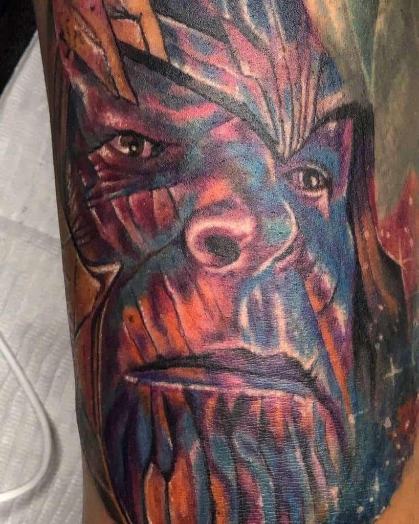 Colored Thanos Tattoo Jed Na Maynard Pa
