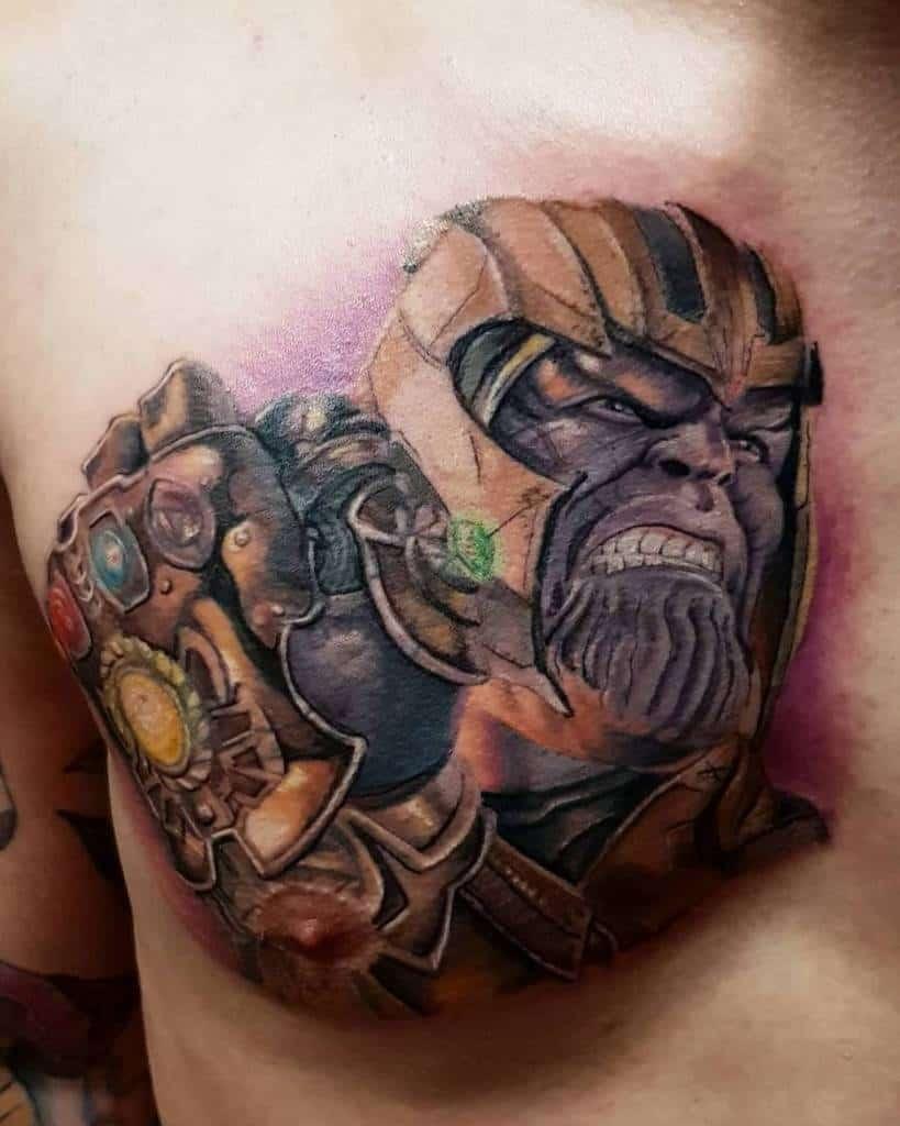 Colored Thanos Tattoo Pierotattwin